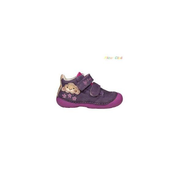 D.D. Step - átmeneti gyerekcipő, sötétkék, lila, felhős