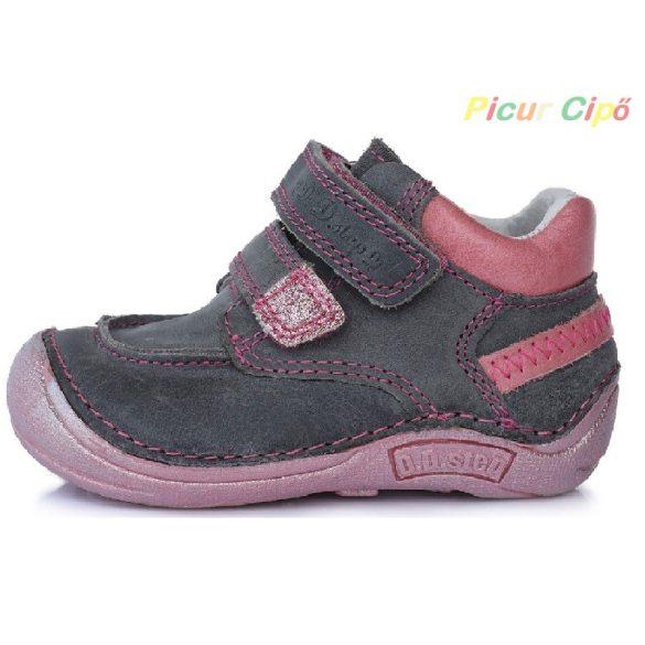 """D.D. Step - """"Barefoot"""" átmeneti gyerekcipő, szürke - rózsaszín"""