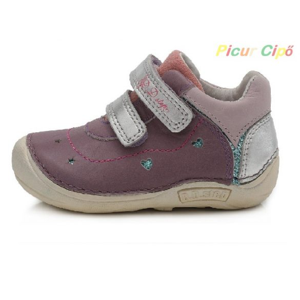 """D.D. Step - """"Barefoot"""" átmeneti gyerekcipő, lila, ezüst"""