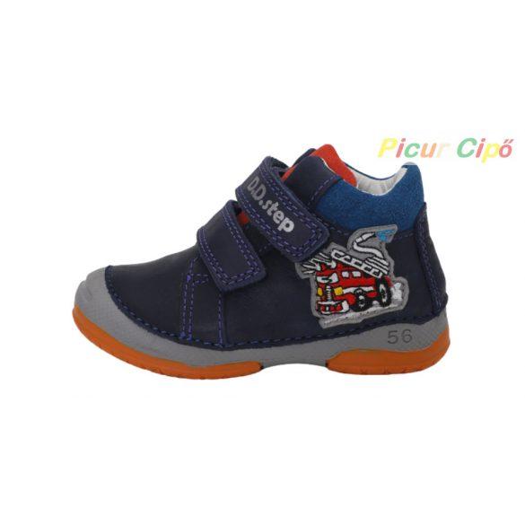 D.D. Step - átmeneti gyerekcipő, sötétkék, tűzoltós