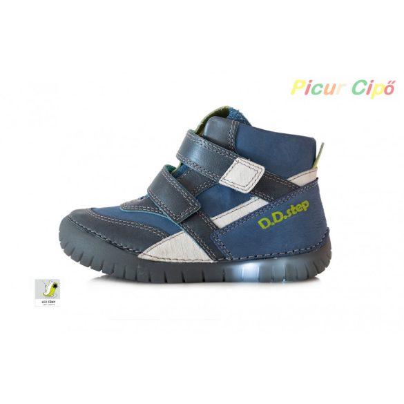 D.D. Step - átmeneti gyerekcipő, kék, villogós