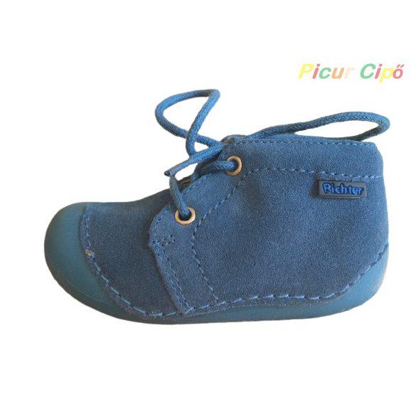 Richter - extra hajlékony, puha talpú, átmeneti, első lépés gyerekcipő, kék fűzős