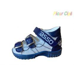 ASSO - kék gyerekszandál, autóval
