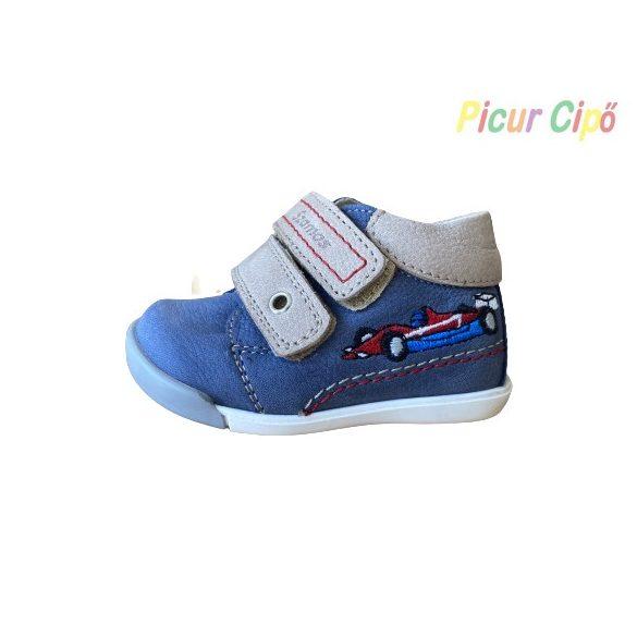 SZAMOS - gyerekcipő, kék versenyautós