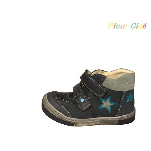 Szamos - átmeneti gyerekcipő, orrvédős, kék, szürke, csillagos