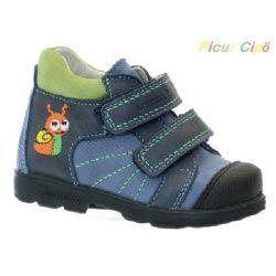 Szamos - szupinált átmeneti gyerekcipő, kék, csigás