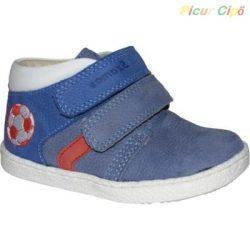 Szamos - nubuk, átmeneti gyerekcipő, kék, fehér, piros, focis