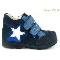 Szamos - szupinált átmeneti gyerekcipő, kék, csillagos