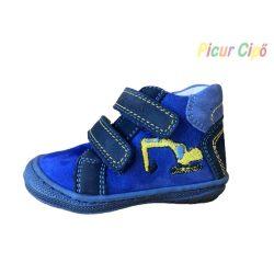 SZAMOS - gyerekcipő. kék-sárga markolós