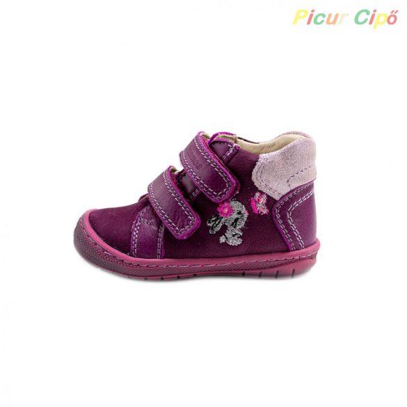 Szamos - első lépés átmeneti gyerekcipő, lila, nyuszis