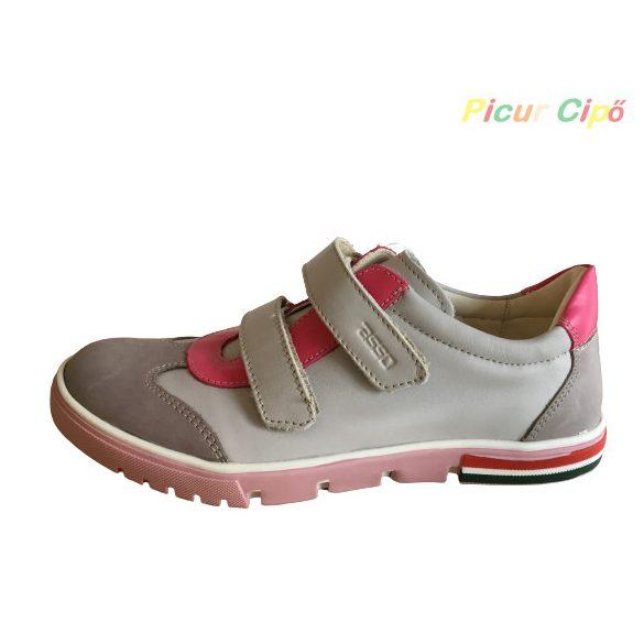 Asso Eag Valeri - átmeneti gyerekcipő, bokszbőr, keskeny, rózsaszín, virágos