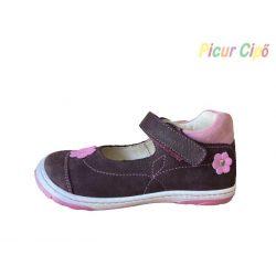 SZAMOS - balerina cipő, bordó virágos