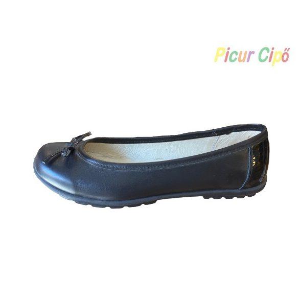 SZAMOS - balerina cipő, fekete masnis