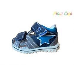PRIMIGI - szürke-kék gyerekszandál, kék csillaggal