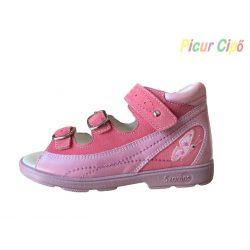 SZAMOS - szupinált gyerekszandál, pink pillangós