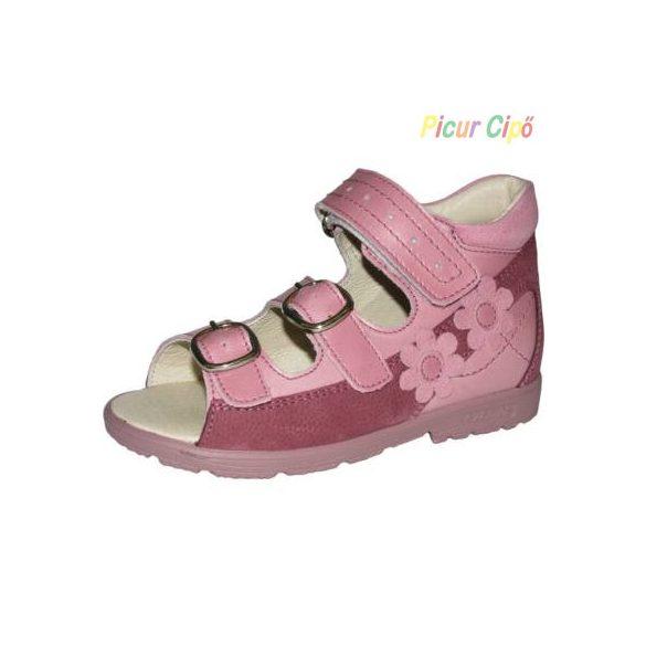 Szamos - szupinált gyerekszandál, mályva, pink