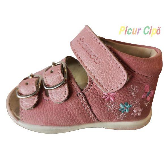 SZAMOS - gyerekcipő, rózsaszín virágos
