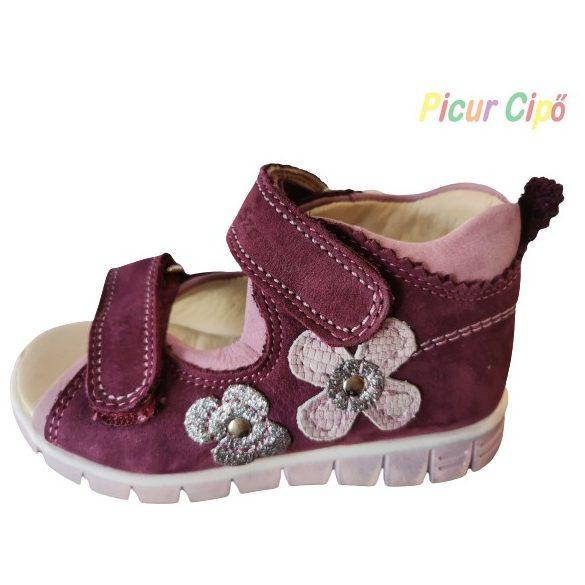 SZAMOS - gyerekcipő, lila-virágos