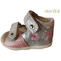 SZAMOS - gyerekcipő, rózsaszín-ezüst