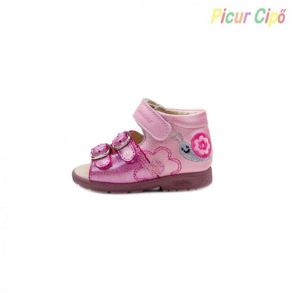 Szamos - szupinált gyerekszandál, pink, rózsaszín, csigás