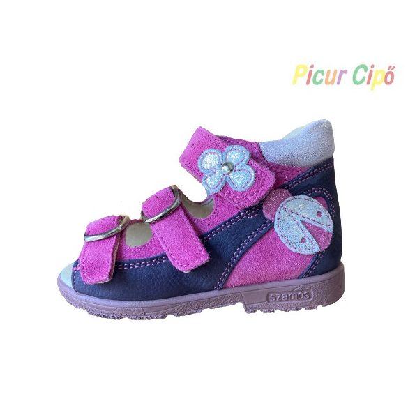 SZAMOS - szupinált gyerekszandál, lila-pink
