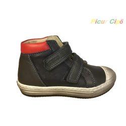 Asso Omeroc - átmeneti gyerekcipő, bokszbőr, sötétkék, piros