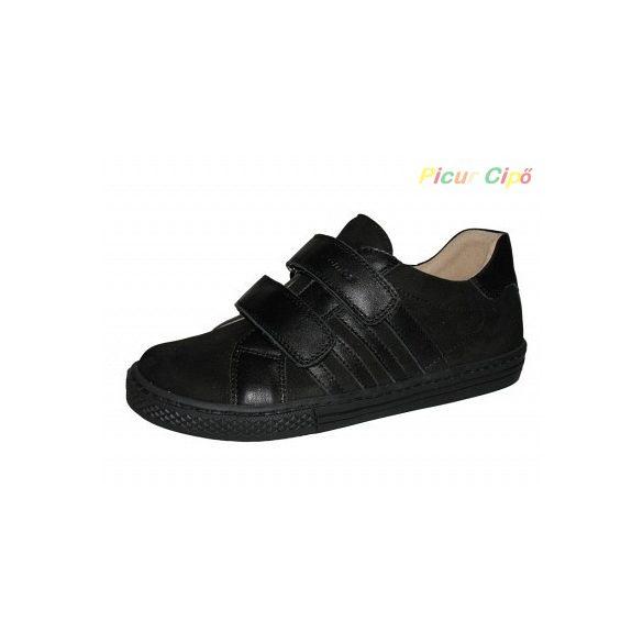Szamos - átmeneti gyerekcipő, bokszbőr, fekete