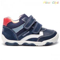 Geox - átmeneti gyerekcipő, lélegző talpon, kék, piros