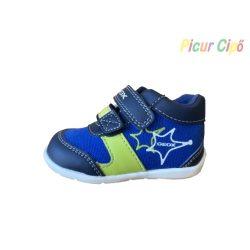 GEOX - gyerekcipő, kék-zöld mintával, szellőző talpon