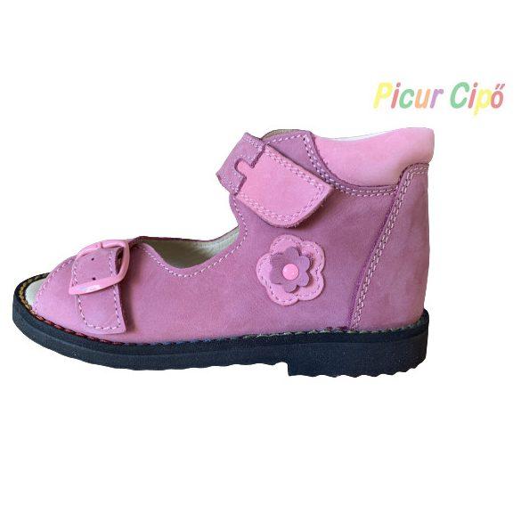 Salus - szupinált prémium FLO 106 gyermekszandál, rózsaszín, virágos