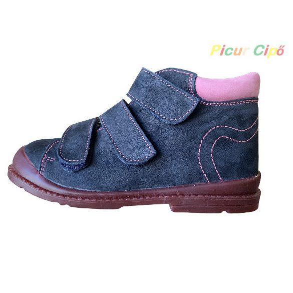 Salus - szupinált prémium flexi FLO 902 átmeneti gyerekcipő, sötétkék, rózsaszín