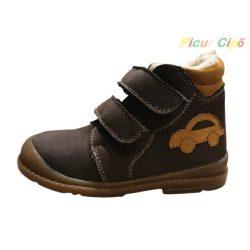 Salus - szupinált prémium flexi FLO 910 bélet cipő,  barna, autós mintával