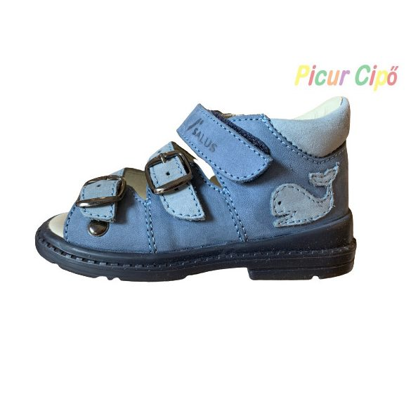 Salus - szupinált prémium flexi FLO 911 gyermekszandál, kék, bálnás, flexi