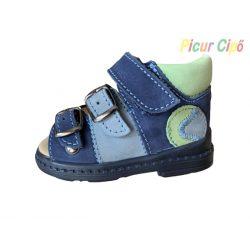 Salus - szupinált prémium flexi FLO 911 gyermekszandál, kék, zöld, labdás