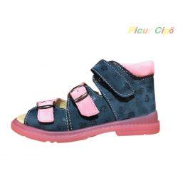 Salus - szupinált prémium FLO 911 gyermekszandál, rózsaszín, kék