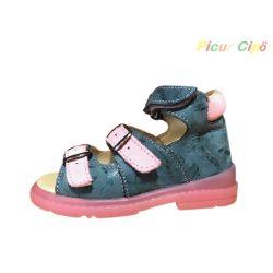 Salus - szupinált prémium flexi F50 gyermekszandál, kék, rózsaszín