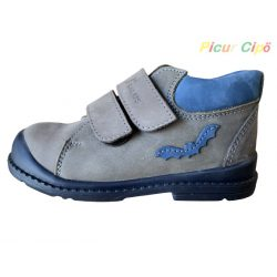 Salus - szupinált prémium flexi F 68 átmeneti gyerekcipő, kék, szürke, denevéres