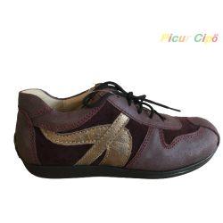 Linea - átmeneti gyerekcipő, keskeny, bordó, fűzős