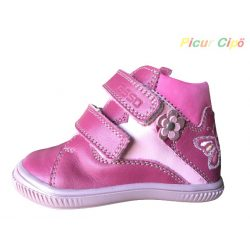 Asso -  átmeneti gyerekcipő, bokszbőr, pink, pillangós