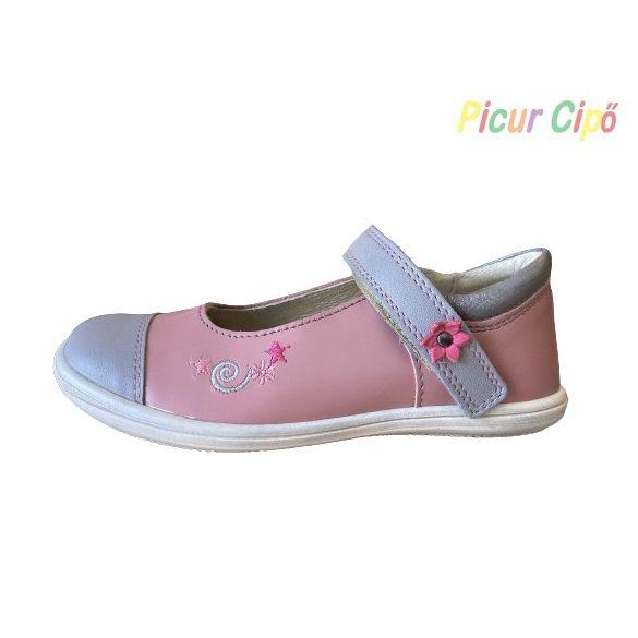 Linea - balerina cipő, rózsaszín-szürke