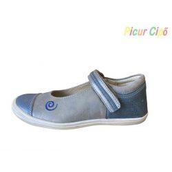 Linea - balerina cipő, kék-ezüst