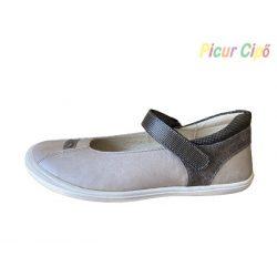 Linea - balerina cipő, szürke-fekete