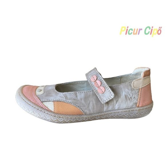 Linea - balerina cipő, mogyoró-narancs